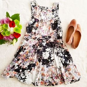 Xhilaration A-Line Cotton Skater Dress Floral XL